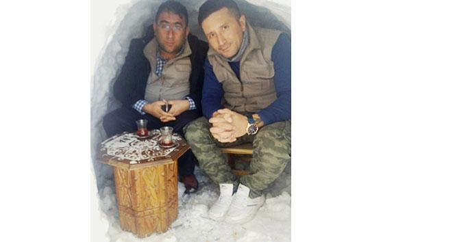 Kahramanmaraş'ta 'Eskimo' evinde çay keyfi