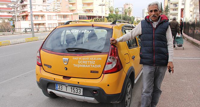 Bu taksi, gazi ve şehit ailelerine ücretsiz