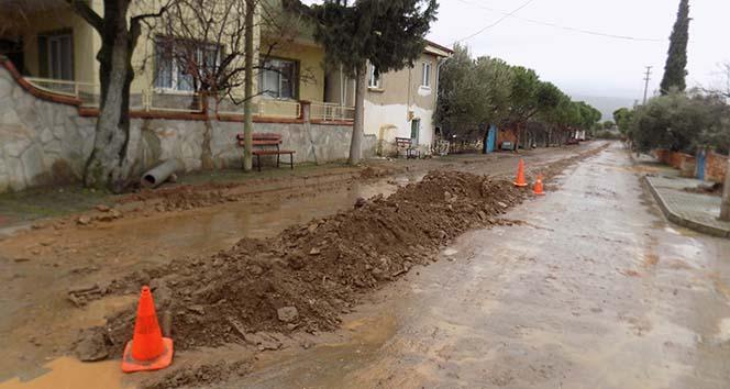 Kanalizasyon kazısı sırasından binlerce yıllık tarih ortaya çıktı
