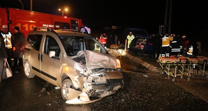 Bolu'da feci kaza: 9 yaralı