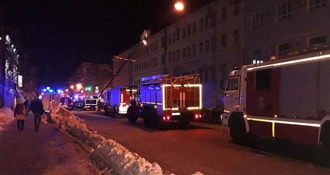 Rusya'da bina yandı: 1 yaralı