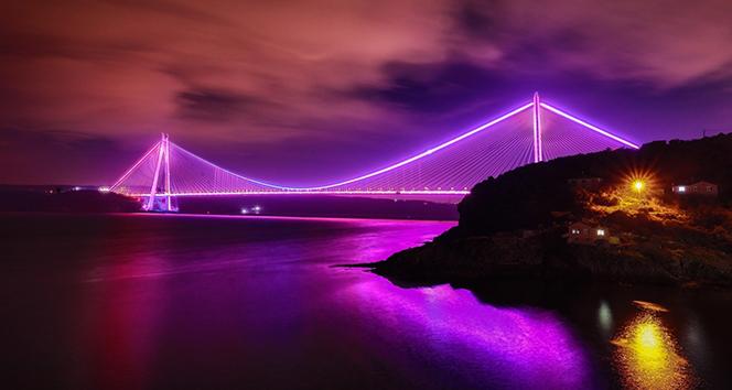 Köprüler epilepsi farkındalığı için mor oldu