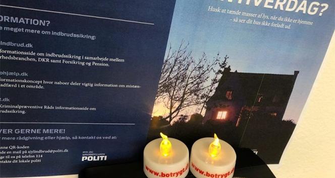 Danimarka polisinden ev hırsızlıklarına LED mum çözümü