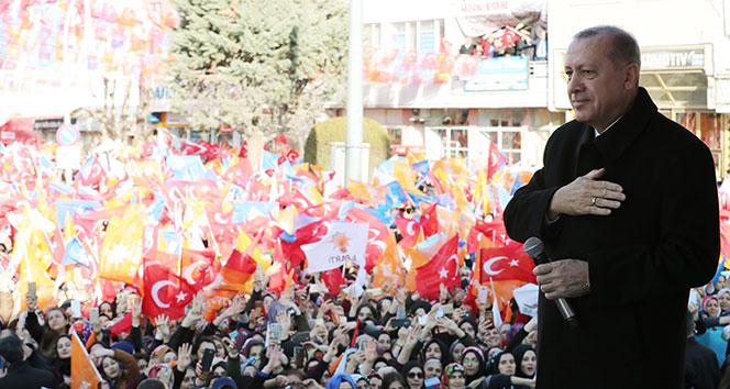 Cumhurbaşkanı Erdoğan: 'CHP'nin başındaki zat gibi yalanla peynir gemisi yürütmeye çalışmıyoruz'