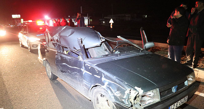 Otomobil tıra arkadan çarptı: 1 yaralı