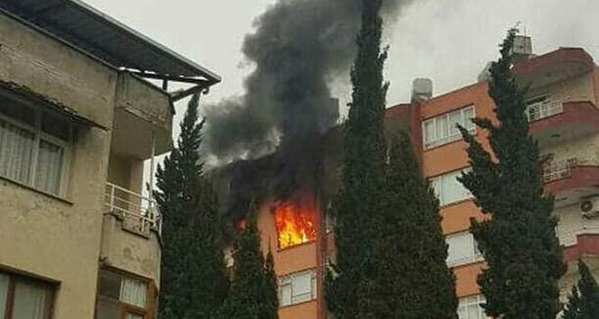 Hatay'da korkutan ev yangını