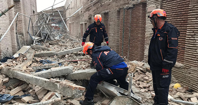 Müze inşaatında duvar çöktü: 1 ölü, 6 yaralı