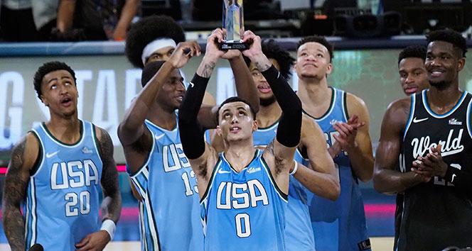 2019 NBA All-Star'da yükselen yıldızlar maçının galibi ABD Karması
