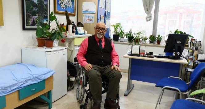 Engelli doktor hastaları ile birlikte Cumhurbaşkanı Erdoğan'a seslendi