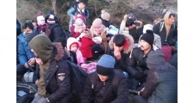 Çanakkale'de 59 mülteci yakalandı !