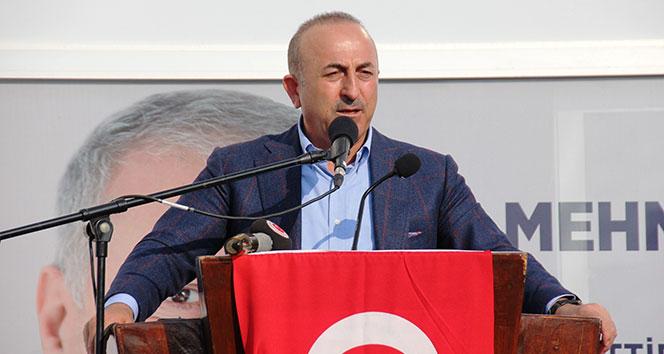 Bakan Çavuşoğlu: 'Zillet ittifakı, vatan hainleri, terör örgütleri birlik içerisinde'