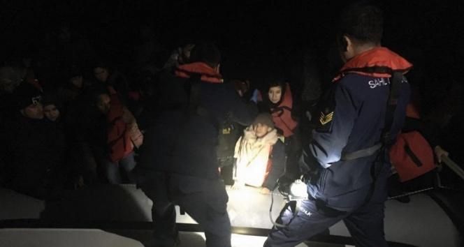 Kuşadası'nda 14'ü çocuk 44 kaçak göçmen yakalandı