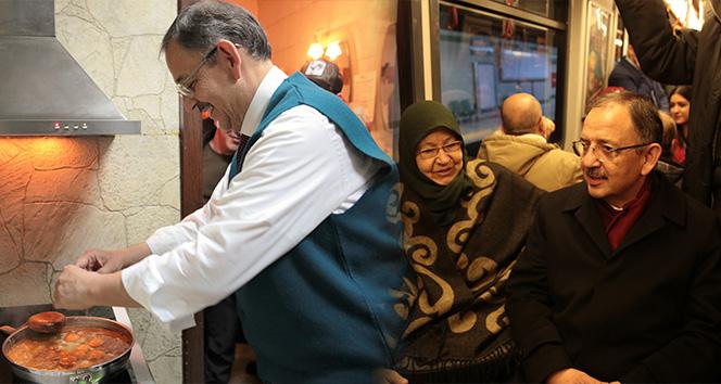 Özhaseki esnafa menemen yaptı, programa Ankaray ile gitti