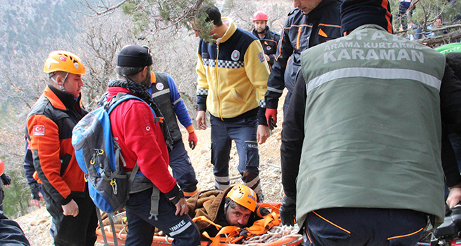 Kurtarmak için 5 kilometre yol açıp, 3 kilometre omuzda taşıdılar