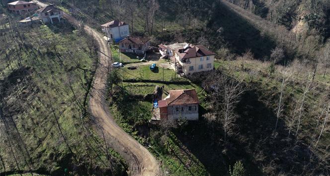 Ordu'da heyelandan 7 ev boşaltıldı, 3 ev risk altında