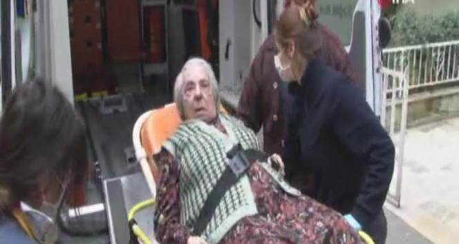 Yangında mahsur kalan yaşlı kadını itfaiye ekipleri kurtardı