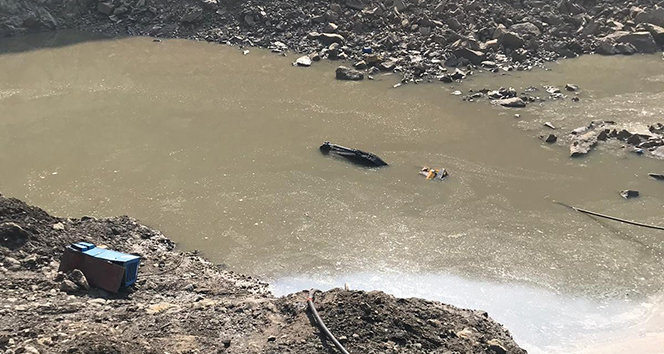 Kömür ocağında toprak kaydı, bir işçi su altında kaldı