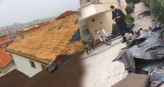 Fırtına çatıları uçurdu| Tekirdağ haberleri