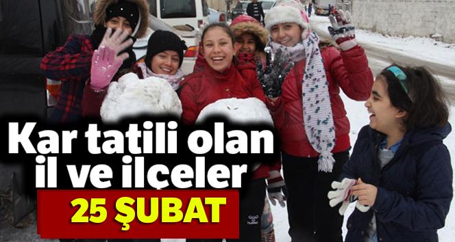 SON DAKİKA: Okullar TATİL Mİ? |25 ŞUBAT Okullar Tatil edildi mi? | İstanbul ve Ankara'da Okullar tatil edildi mi?