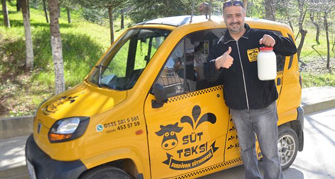 Yöneticiliği bıraktı, 'süt taksi' projesini hayata geçirdi