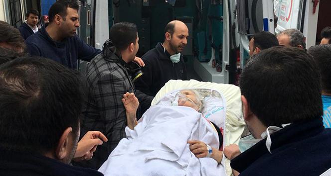Hastanede korkutan yangın, hastalar camdan tahliye edildi