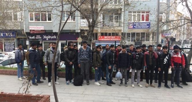 Keşan'da 49 kaçak göçmen yakalandı