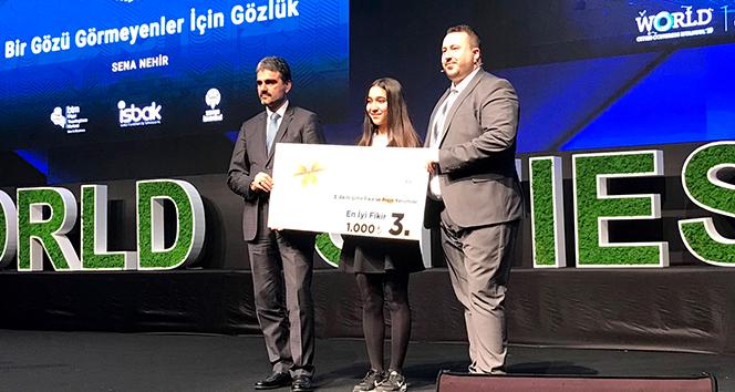 Akıllı şehirler yarışmasında İhlas Koleji'ne ödül