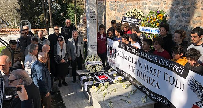 Beşiktaş, kuruluş gününde Şeref Bey'i kabri başında andı