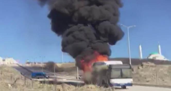 EGO otobüsü yandı: 1 çocuk yaralı