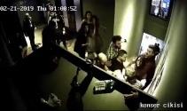 Beşiktaş'ta ünlü eğlence mekanındaki kadınlara şiddet kamerada