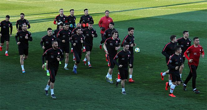 A Milli Takım Arnavutluk ve Moldova maçı hazırlıklarını sürdürdü