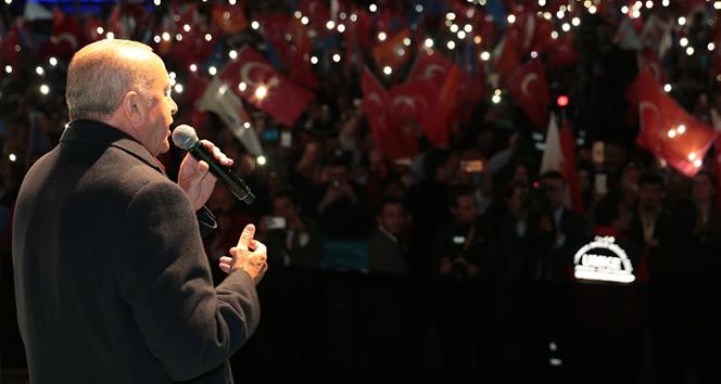 Cumhurbaşkanı Erdoğan: 'Milletin hayrına hangi hizmet varsa hepsini de CHP yargıya taşımış'