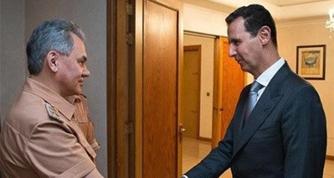 Rusya Savunma Bakanı Şoygu, Esad'la görüştü