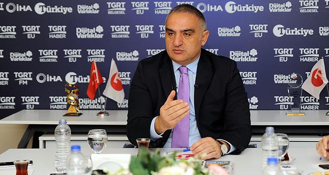 Kültür ve Turizm Bakanı Ersoy:' Nitelikli turistleri Türkiye'ye getirmek istiyoruz'