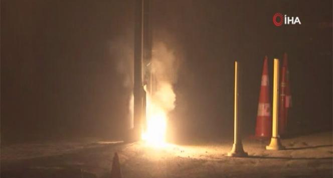 Kağıthane'de mahalleliyi sokağa döken yangın