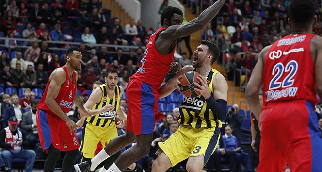 Fenerbahçe Beko, deplasmanda CSKA Moskova'ya boyun eğdi