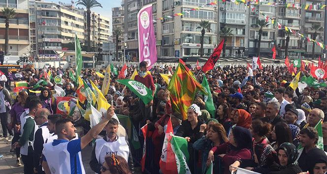 İzmir'deki nevruz kutlamasında PKK propagandasına 16 gözaltı