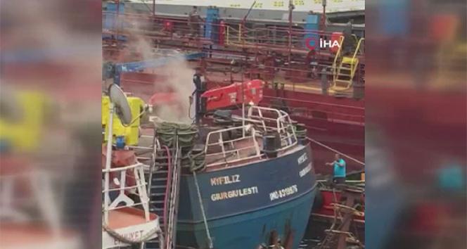 Tuzla'da yabancı bayraklı gemide yangın