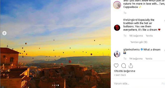 Bella Hadid'in Kapadokya'dan paylaştığı fotoğraflara beğeni yağıyor