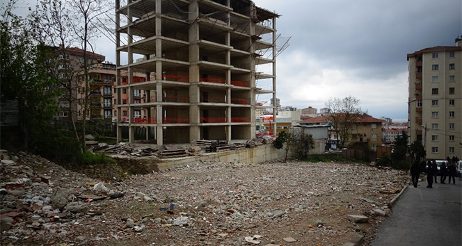 İstanbul'da inşatta dehşet
