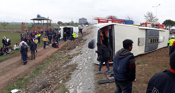 Denizli'deki otobüs kazasında yaralı sayısı 34'e yükseldi