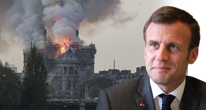 Macron: 'Notre-Dame Katedrali'ni yeniden inşa edeceğiz'