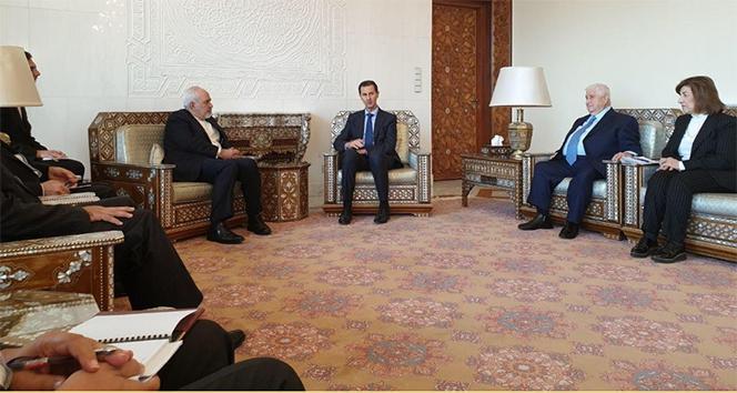 İran Dışişleri Bakanı Zarif, Esed ile bir araya geldi