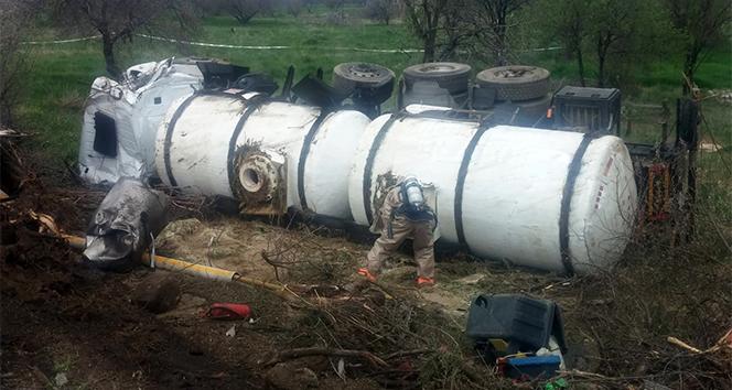 Afyonkarahisar'da kaza sonrası büyük panik