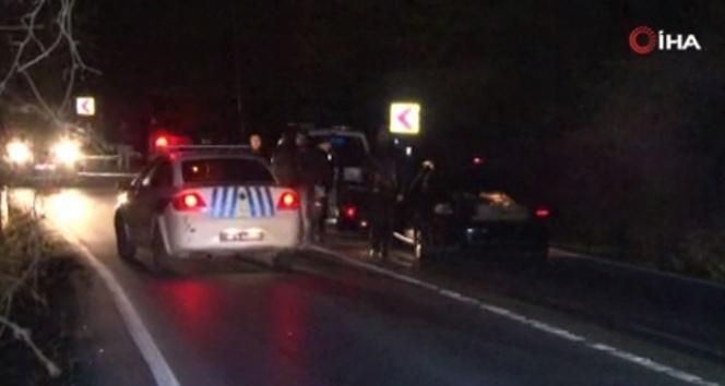 Sarıyer'de polisin 'dur' ihtarına uymayan araç polise çarptı