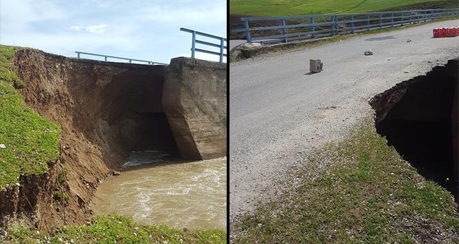 Bismil'de köprü çöktü