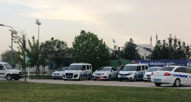 Düşme hattında yer alan Bursaspor'a polisten yoğun önlem