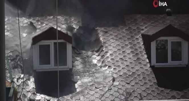 Maltepe'de 5 katlı binada yangın paniği