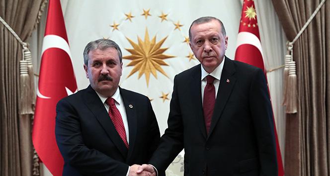Cumhurbaşkanı Erdoğan, Mustafa Destici'yi kabul etti