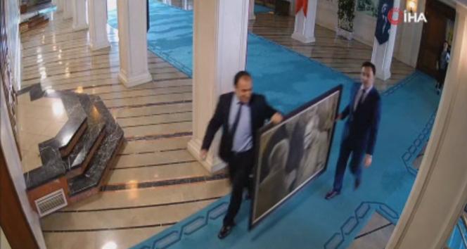 Atatürk tablosunu İmamoğlu'nun ekibinin duvardan indirdiği ortaya çıktı